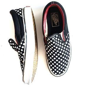 Van's Slip On Sneakers Polka Dot Size 7